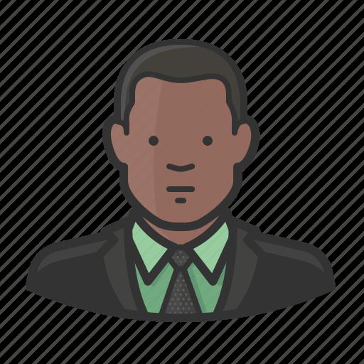 african, african american, man, necktie, suit icon