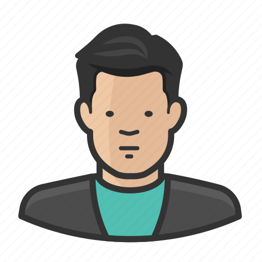 asian, avatar, male, man, sweater icon