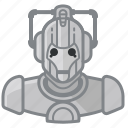 cyberman, doctorwho, robot, whovian icon