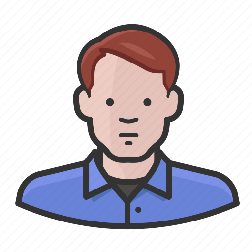 avatar, ginger, male, man, red hair icon