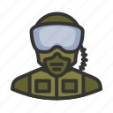 goggles, military, pilot, soldier