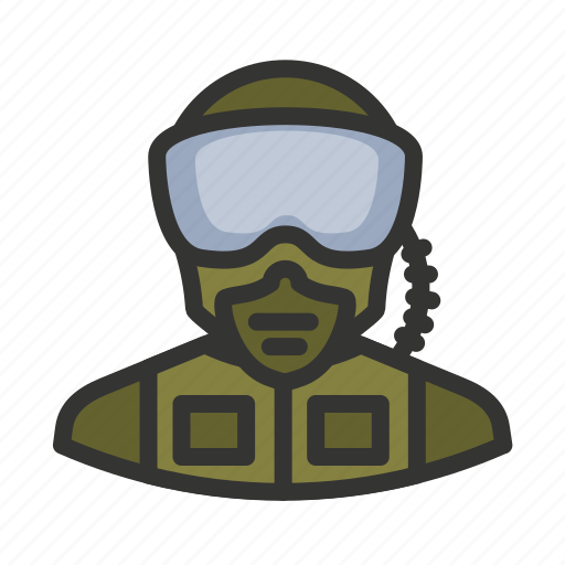 goggles, military, pilot, soldier icon