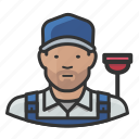 asian, boy, male, man, overalls, plumber icon