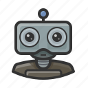 android, machine, robot icon