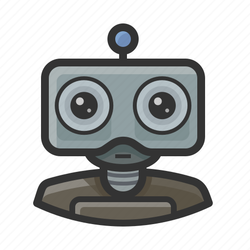 android, machine, robot icon