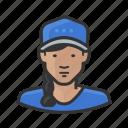 asian, ballcap, baseball cap, braid, girl, woman, young icon