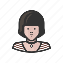 avatar, female, girl, stripes, woman, young