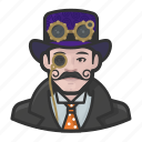 avatar, male, man, steampunk