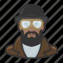 african, avatar, male, man, steampunk icon