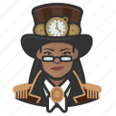 african, avatar, female, steampunk, woman