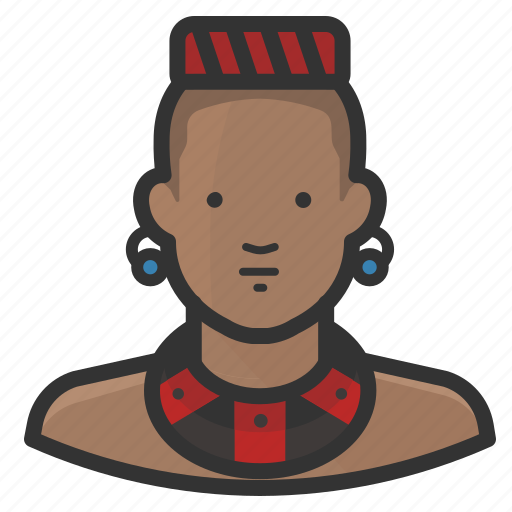 african, avatar, man, native, traditional icon