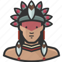 avatar, brazilian, indian, man, native icon