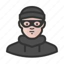avatar, burglar, criminal, man, thief icon