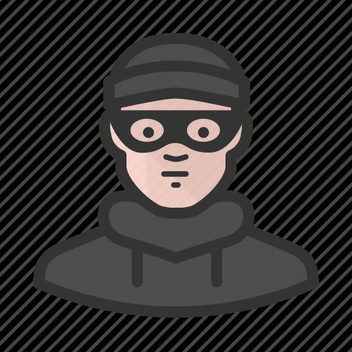 avatar, burglar, criminal, man, thief icon