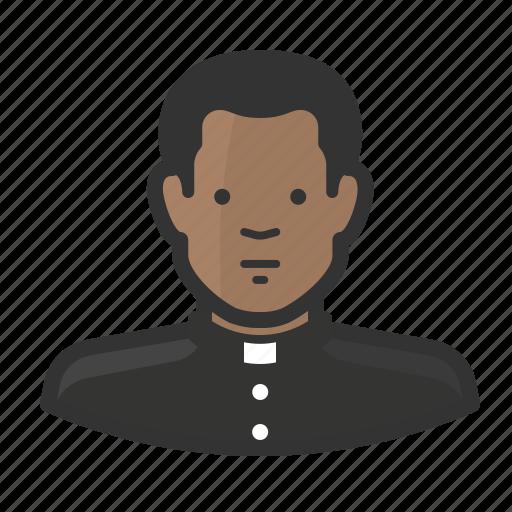 african, avatar, catholic, christian, clergy, priest, religion icon