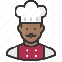 chef, african, avatar, man, food, cook, restaurant