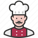 avatar, chef, cook, food, man, restaurant icon