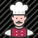 avatar, chef, man, cook, food, restaurant