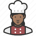 chef, woman, avatar, african, food, cook, restaurant