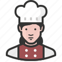 chef, woman, avatar, food, cook, restaurant