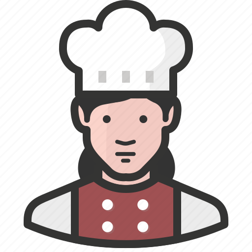 avatar, chef, cook, food, restaurant, woman icon