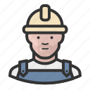 construction, avatar, man, hardhat