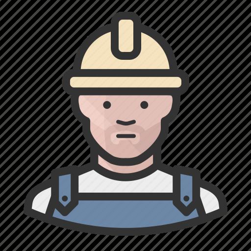 avatar, construction, hardhat, man icon