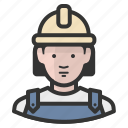 construction, avatar, woman, girl, female