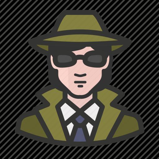avatar, detective, female, girl, private eye, white, woman icon