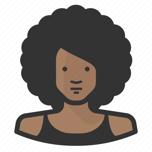 african, afro, avatar, disco, female, girl, woman icon