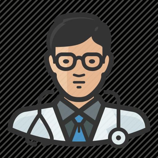 Asian, avatar, doctor, man, healthcare, medicine icon - Download on Iconfinder