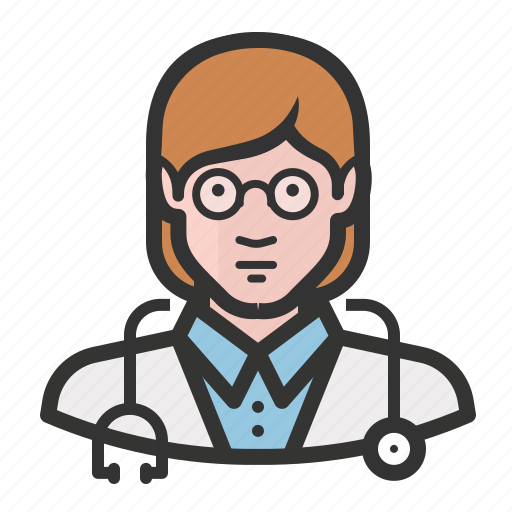 avatar, doctor, female, girl, healthcare, medicine, woman icon
