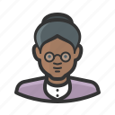african, avatar, elderly, female, girl, grandmother, old lady, woman icon
