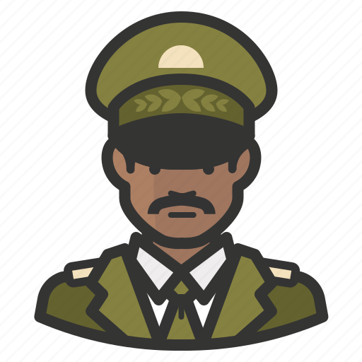African, avatar, general, man, army, military icon - Download on Iconfinder