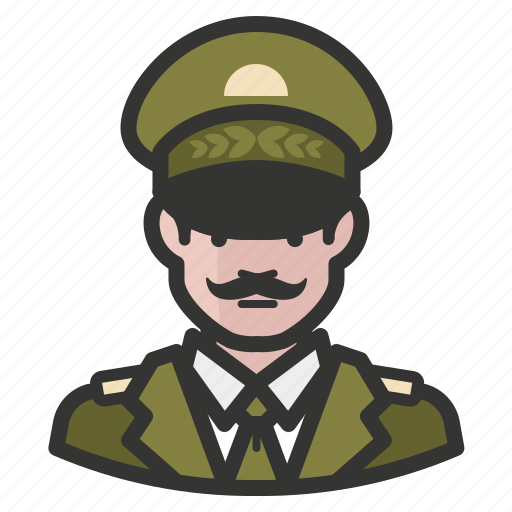 army, avatar, general, male, man, military, officer icon