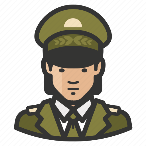 army, asian, avatar, female, general, girl, military, woman icon