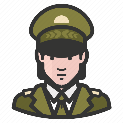 army, avatar, female, general, girl, military, woman icon