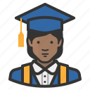 african, avatar, education, female, girl, graduate, school, woman icon