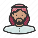 arab, man, muslim, turban, islam icon