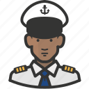 african, avatar, man, military, navy icon