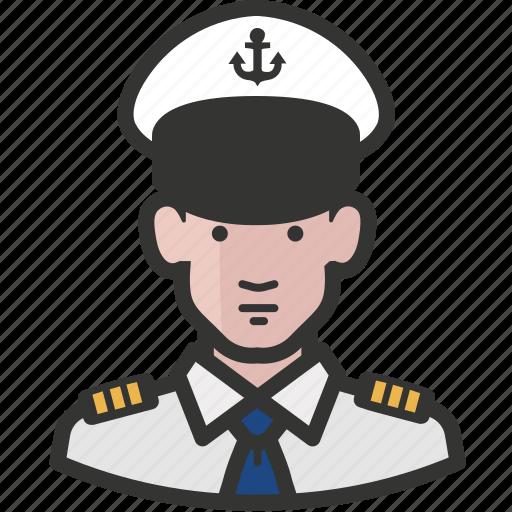 avatar, man, military, navy icon