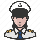 avatar, female, girl, military, navy, woman icon