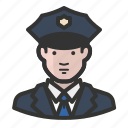 avatar, cop, law enforcement, man, police icon