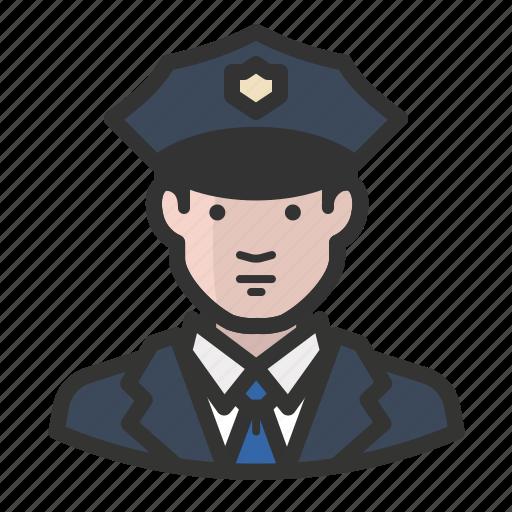 avatar, cop, law enforcement, man, police icon