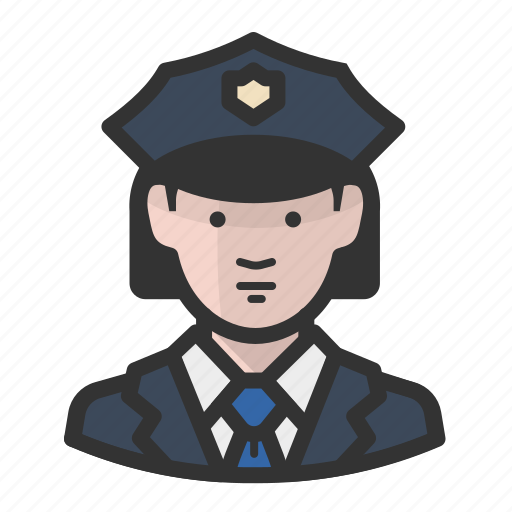 avatar, cop, female, girl, law enforcement, police, woman icon
