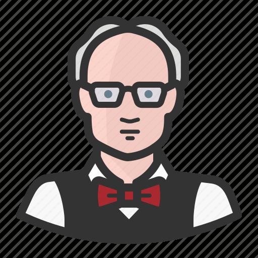 avatar, education, man, professor, teacher, university icon