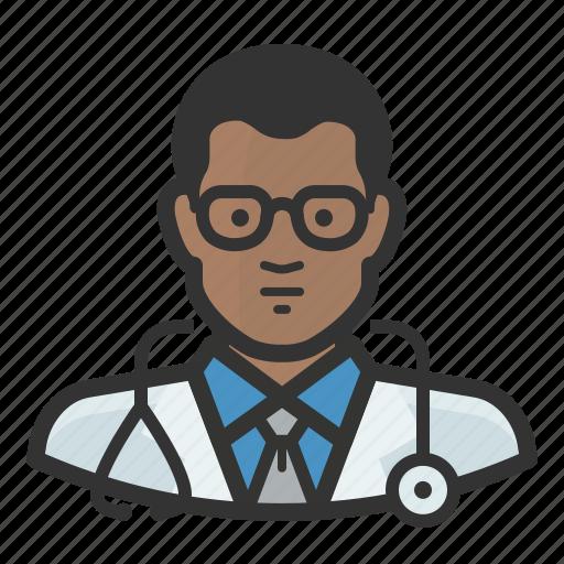 african, avatar, healthcare, man, medicine, surgeon icon