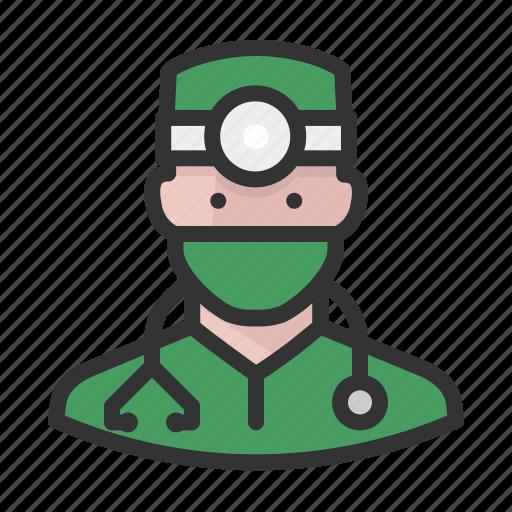 avatar, healthcare, man, medicine, surgeon icon