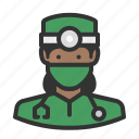 avatar, female, girl, healthcare, medicine, surgeon, woman icon