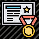 achievement, award, certification, diploma, graduation